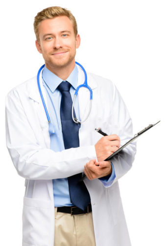 integral-de-doctor-joven-confiado-en-el-fondo-blanco-31054446